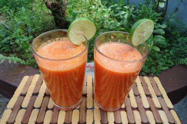 Mrkev, šťáva, oranžová, zelenina, smoothie