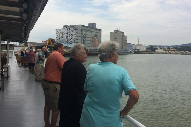 Plavba po Dunaji v rakouském Linci