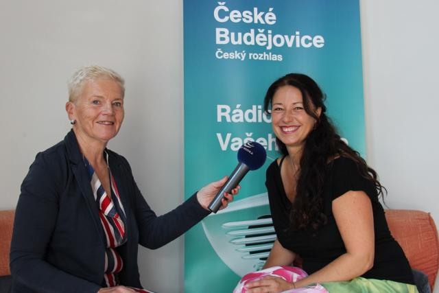 Monika Hasalová (vpravo) a autorka pořadu Dámská jízda Mirka Nezvalová