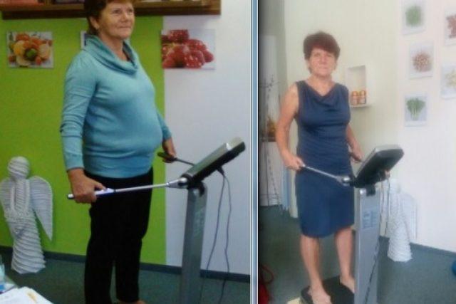Změna za 12 měsíců - paní Jana v září 2015 a v září 2016. Nastartovat zdravý životní styl se jí povedlo s pořadem Dámská jízda