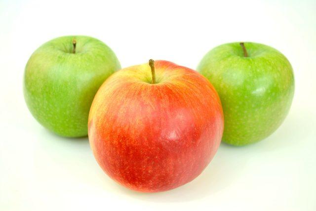 jablko jablka červené zelené ovoce zdravé