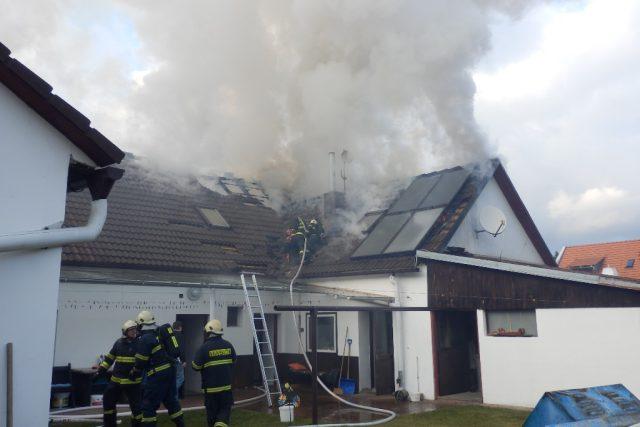 Práce jihočeských profesionálních hasičů