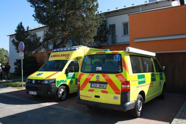 Výjezdové místo Zdravotnické záchranné služby ve Lhenicích   foto:  ZZS Jihočeského kraje