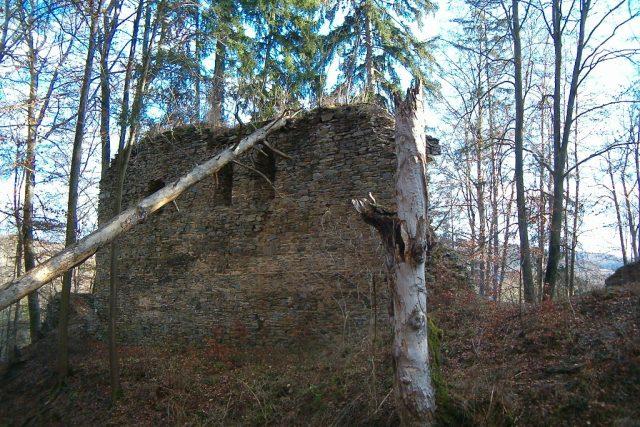 Zřícenina Karlův Hrádek u Hluboké nad Vltavou