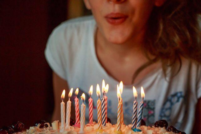 Narozeniny svíčky narozeninový dort