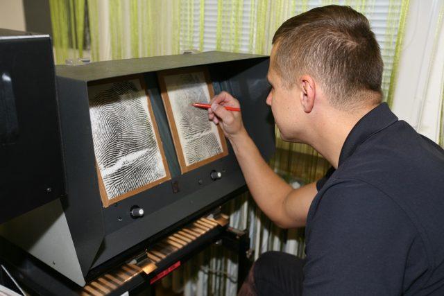 Daktyloskopická laboratoř Policie Jihočeského kraje   foto:  Policie Jihočeského kraje