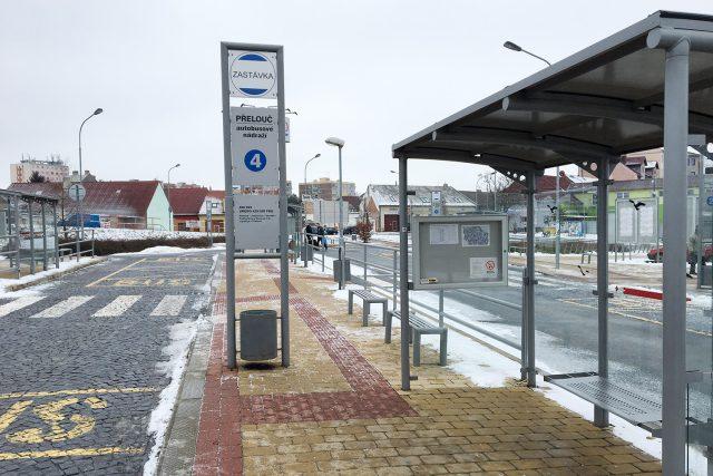 Autobusové nádraží v Přelouči