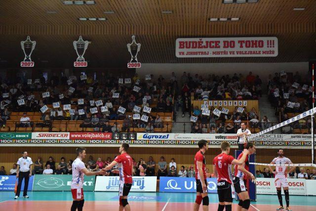 Semifinále volejbalové extraligy v sezóně 2016-17 - Jihostroj České Budějovice vs. Karlovarsko