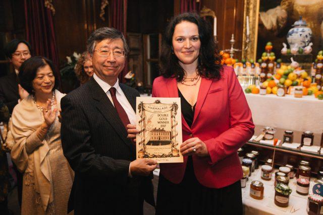 Jozefína Růžičková při předávání ocenění World´s Original Marmalade Awards