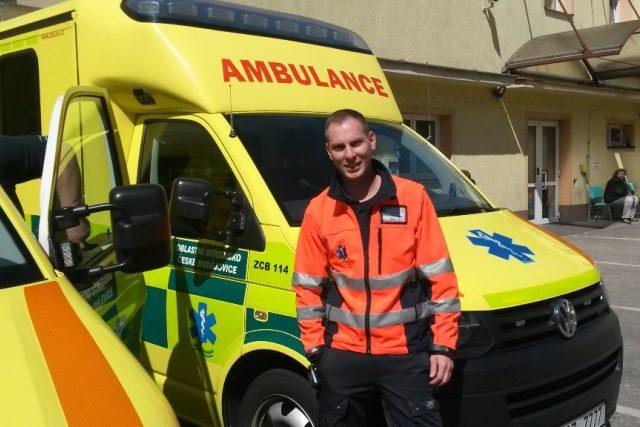 Řidič Zdravotnické záchranné služby Jihočeského kraje Martin Koňarik