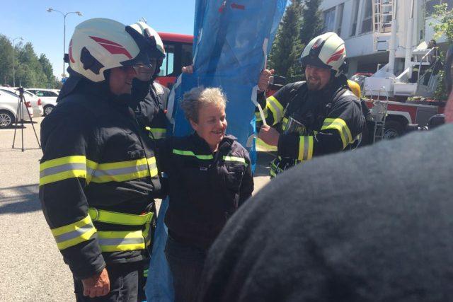 Cestu rukávem absolvovala také předsedkyně Státního ústavu pro jadernou bezpečnost Dana Drábová