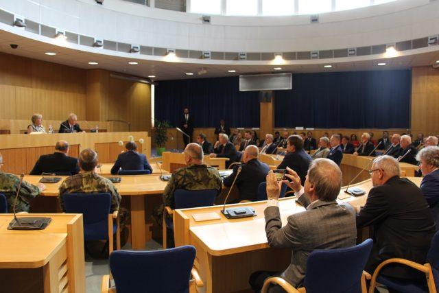 Prezident Miloš Zeman se na úvod své návštěvy jižních Čech setkal s krajskými zastupiteli a dalšími hosty