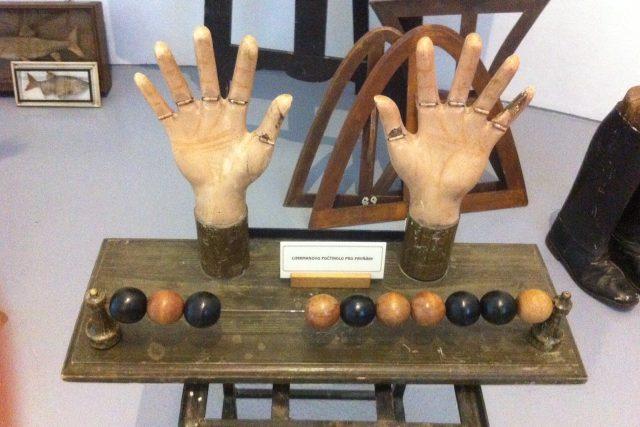Expozice výstavy Půlstoletí s Cimrmanem v Českých Budějovicích