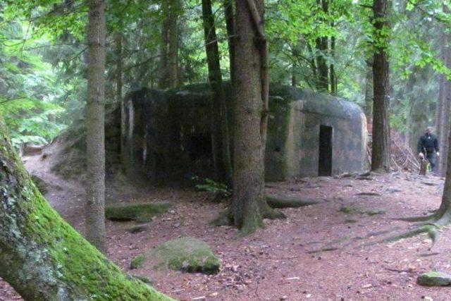 Několik bunkrů, takzvaných řopíků, se nachází mezi obcí Klášter a hradem Landštejn nedalekoho Nové Bystřice na Jindřichohradecku