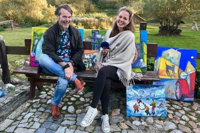 Ateliér malíře Hynka Fuky v Meziluží navštívila při Dnech otevřených ateliérů Lenka Nechvátalová