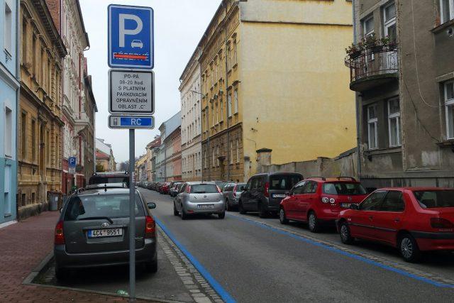Parkovací zóny na Pražském předměstí v Českých Budějovicích