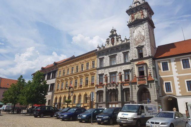 Prachatice, radnice, náměstí