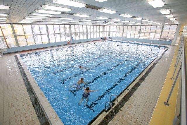 Bazén na plaveckém stadionu v Táboře, plavání, plovárna