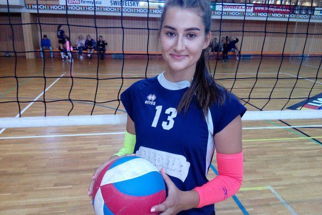Volejbalistka týmu VK Madeta České Budějovice Helena Harrisová | foto: Kamil Jáša