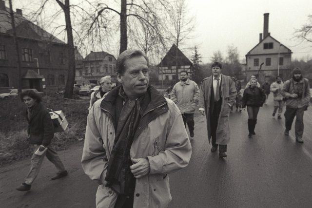 Václav Havel navštívil v roce 1995 obec Libkovice