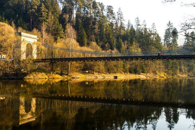 Stádlecký most přes řeku Lužnici