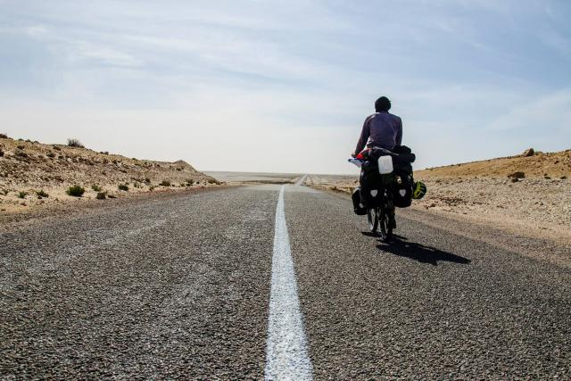 Tadeáš Šíma projel na kole Afriku