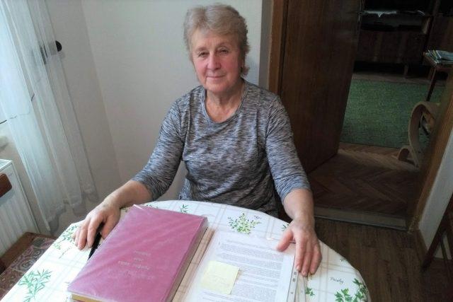 Drahomíra Janáková, kronikářka obce Chlumec u Dačic