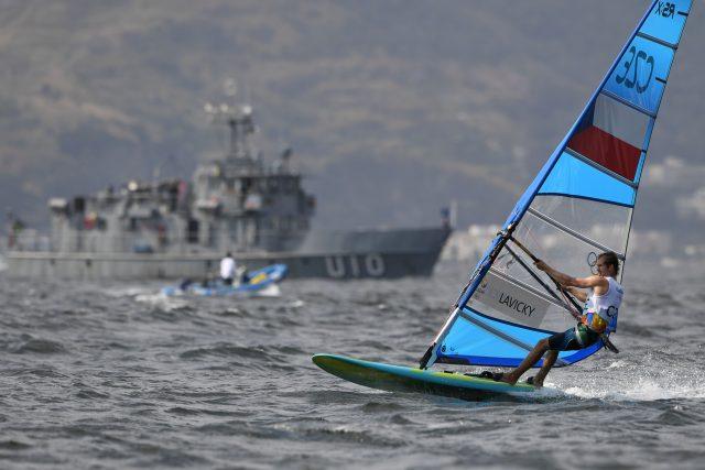 Windsurfer Karel Lavický na olympijských hrách v Riu | foto: Fotobanka Profimedia