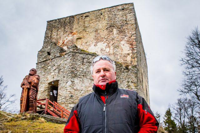 Miroslav Kovačičín, správce zříceniny Vítkův hrádek u Lipna