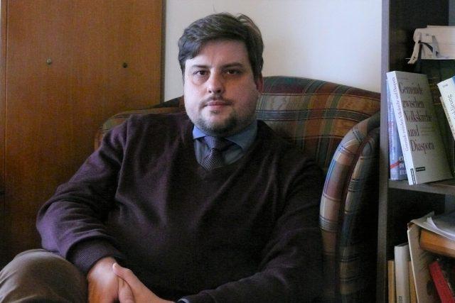 Richard Vlasák,  publicista,  politický komentátor,  historik a zároveň pedagog a evangelický duchovní | foto: Filip Černý,  Český rozhlas,  Český rozhlas