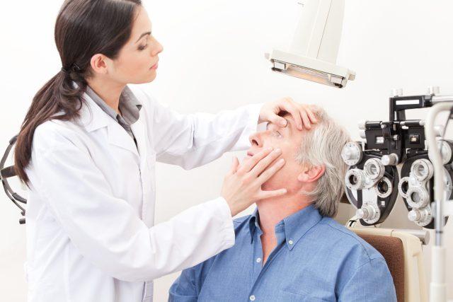 Oční lékařka, vyšetření zraku, optika