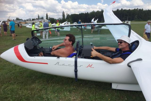 Mistrovství světa v bezmotorovém létání na letišti Hosín u Českých Budějovic