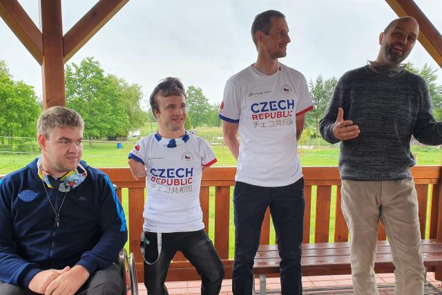 Do budějovické Arpidy dorazili bývalý lyžař Martin Jakš a vítěz paralympijských her Arnošt Petráček