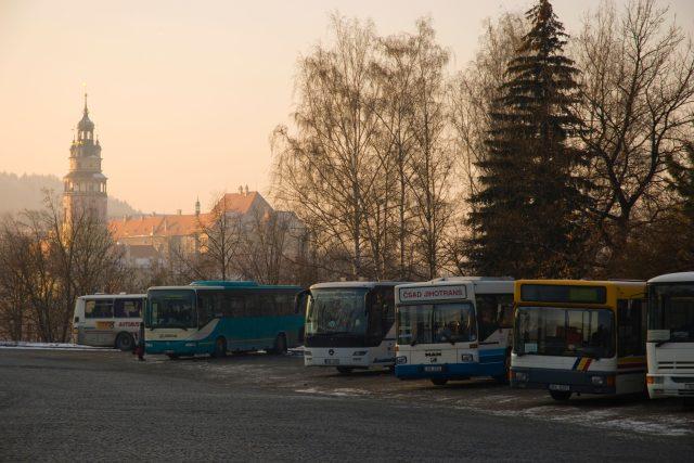 Autobusy, autobusové nádraží, Český Krumlov