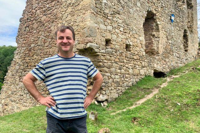 Radek Kocanda, správce hradu Pořešín u Kaplice na Českokrumlovsku