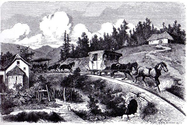Koněspřežná dráha z Českých Budějovic do Lince, 19. století