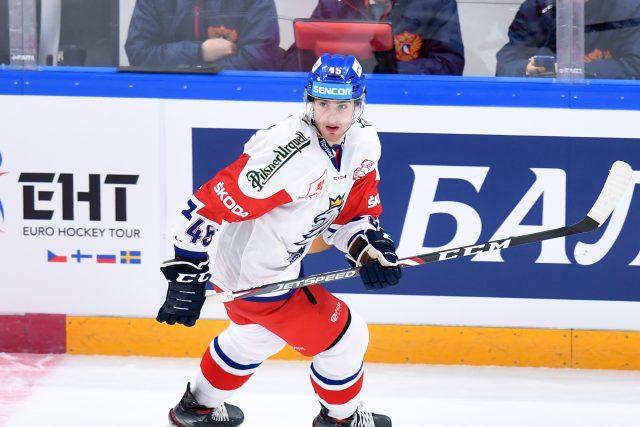 Hokejista Lukáš Sedlák v reprezentačním dresu