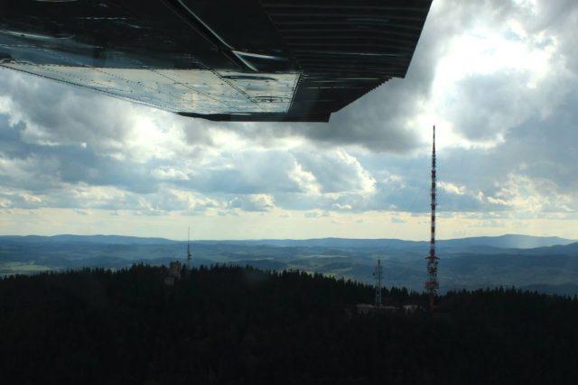 Fotografie z vyhlídkového letu nad horou Kleť | foto: Dana Sofie Šlancarová