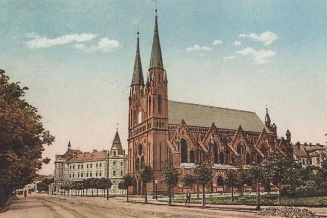 Židovská synagoga v Českých Budějovicích, kterou zbourali nacisté v roce 1942