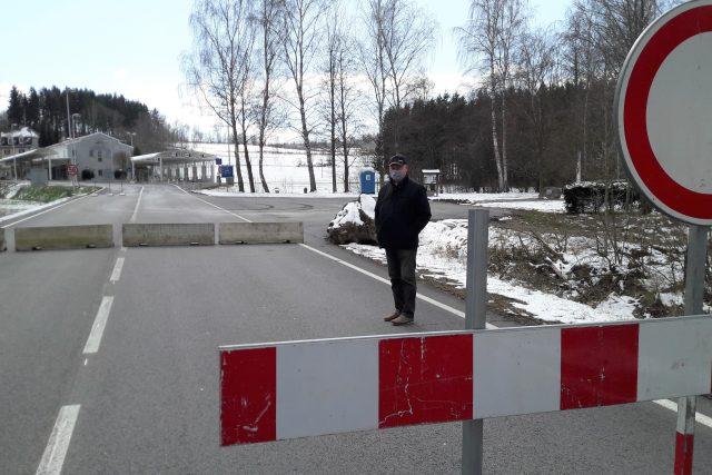 Uzavřený hraniční přechod Studánky u Vyššího Brodu