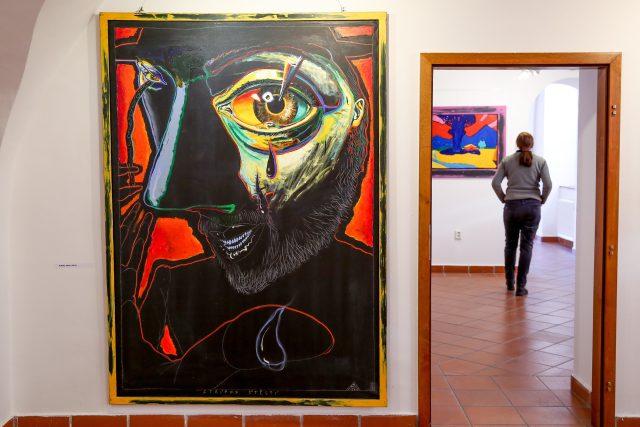 Boris Jirků představuje v táborské galerii U Radnice výběr monumentálních pláten, která vznikla od roku 1986 do současnosti