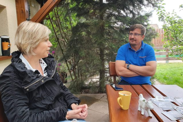 Kateřina Neumannová a Jaroslav Bílek   foto: Kamil Jáša,  Český rozhlas