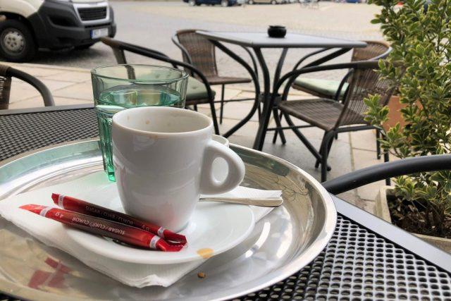 Káva, kavárna, předzahrádka České Budějovice