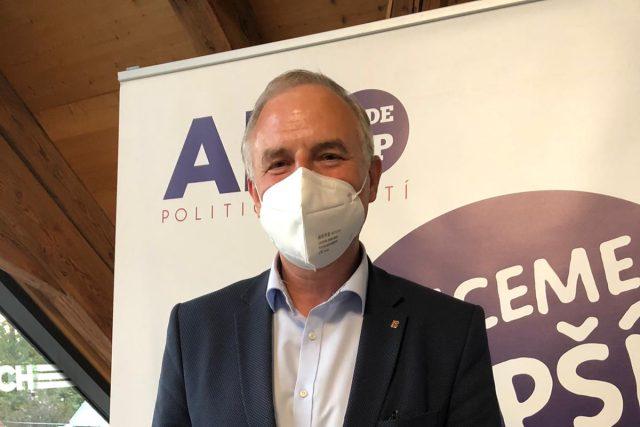 František Konečný ve volebním štábu ANO