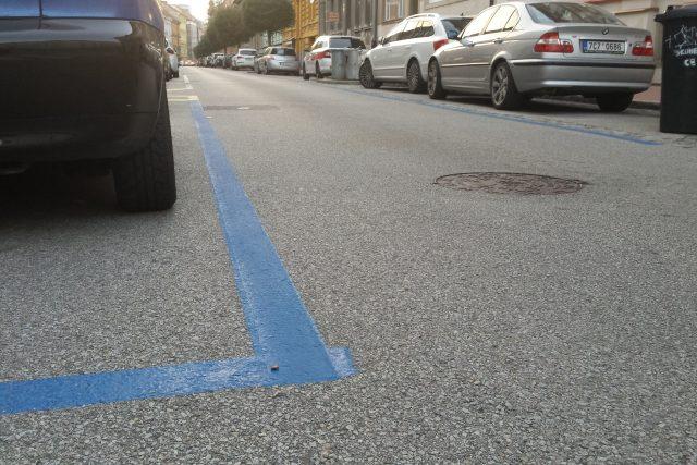 Parkování České Budějovice, modré zóny