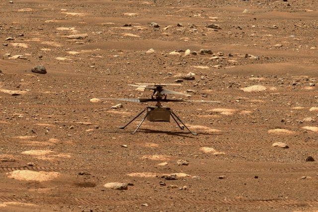 Malý vrtulník Ingenuity | foto: NASA / JPL-CALTECH / SPACE SCIENCE INSTITUTE