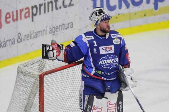 Marek Čiliak v dresu Komety Brno.